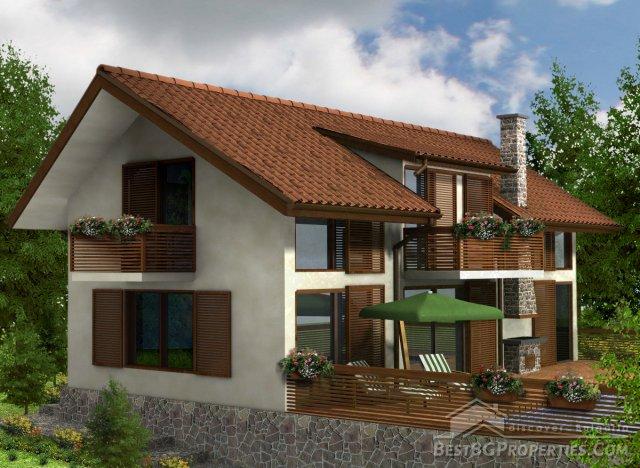 Casa di 3 camere da letto in stile moderno for Casa stile moderno