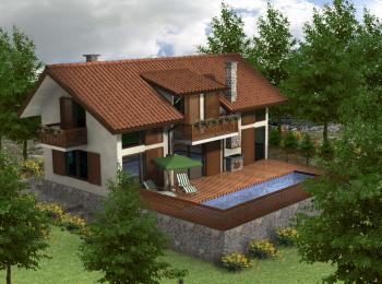casa di 3 camere da letto in stile moderno