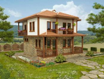 2 piani casa bulgara tradizionale
