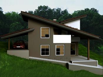 Villa di campagna 2 camere da letto design moderno piano for Bloccare i piani di garage