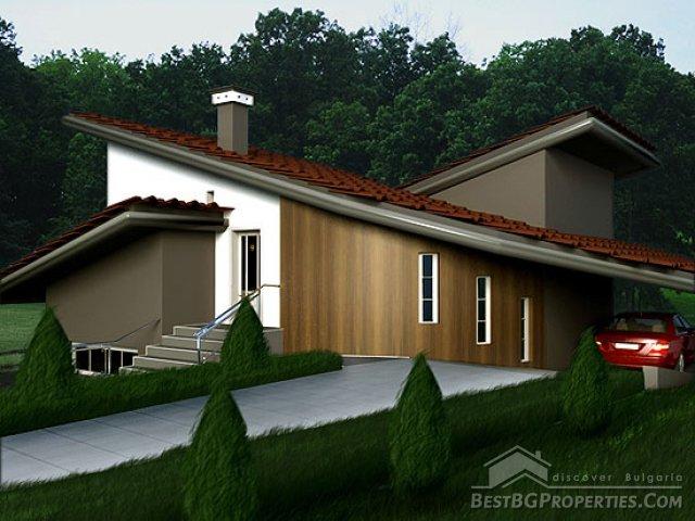 Villa di campagna 2 camere da letto, design moderno piano di villa ...