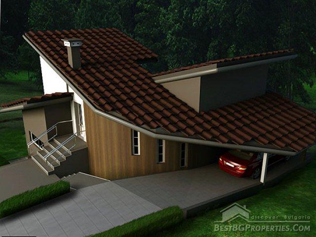 Villa di campagna 2 camere da letto design moderno piano for 6 piani di casa colonica di 6 camere da letto